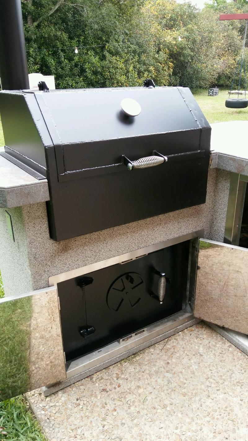 Drop in countertop smoker